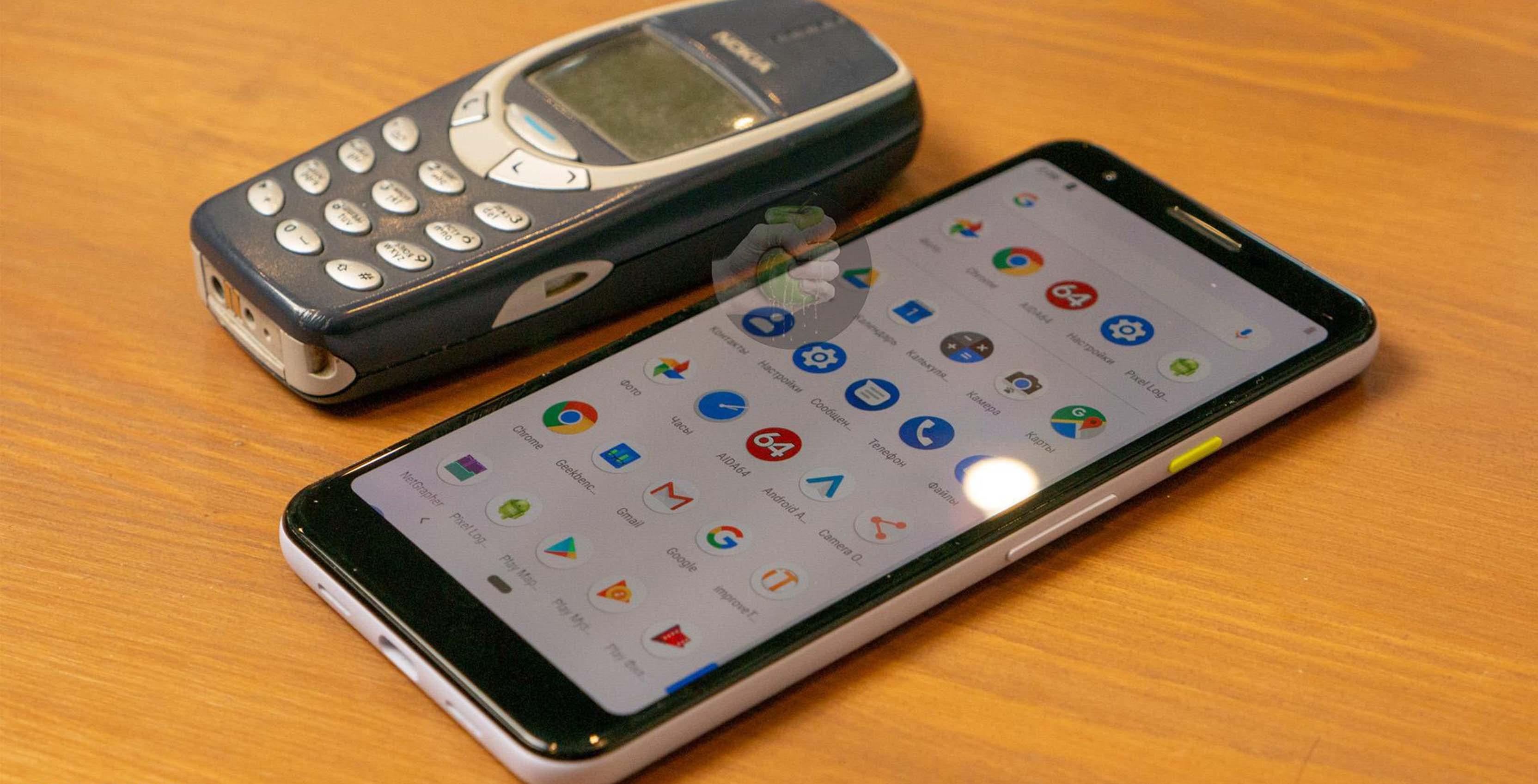 Pixel 3 Lite with Nokia 3310
