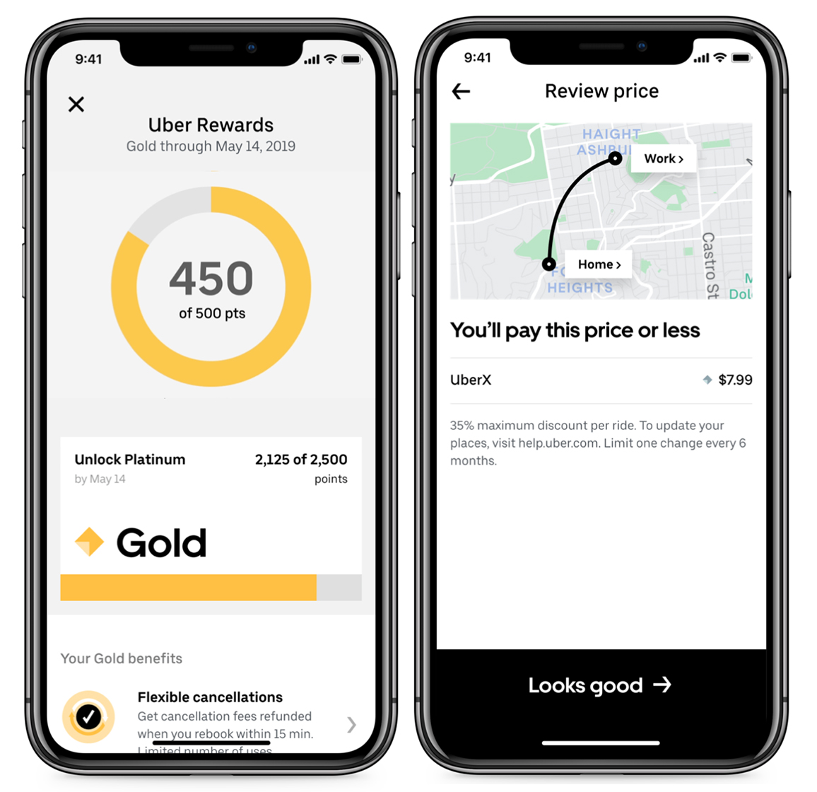 Uber launches a tiered rewards program in the U.S., just like Lyft