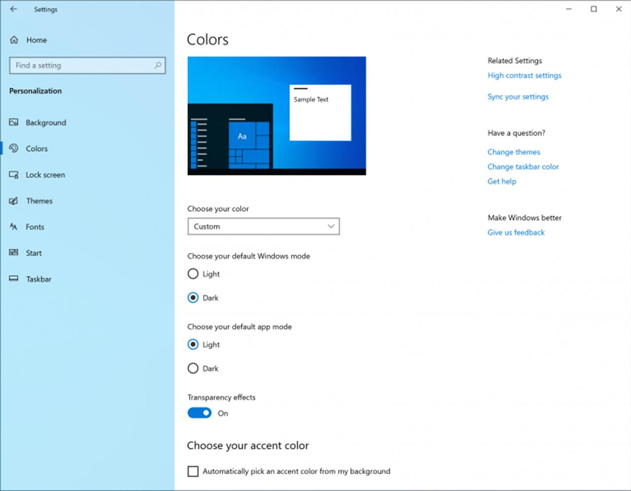 Windows 10 Personalization Photos