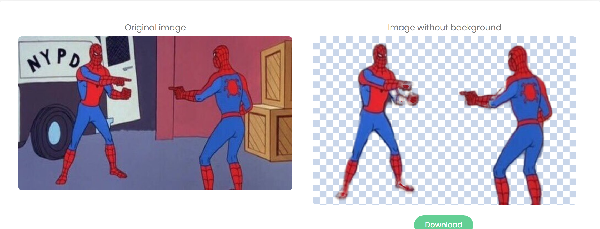 2 Spider-Men meme