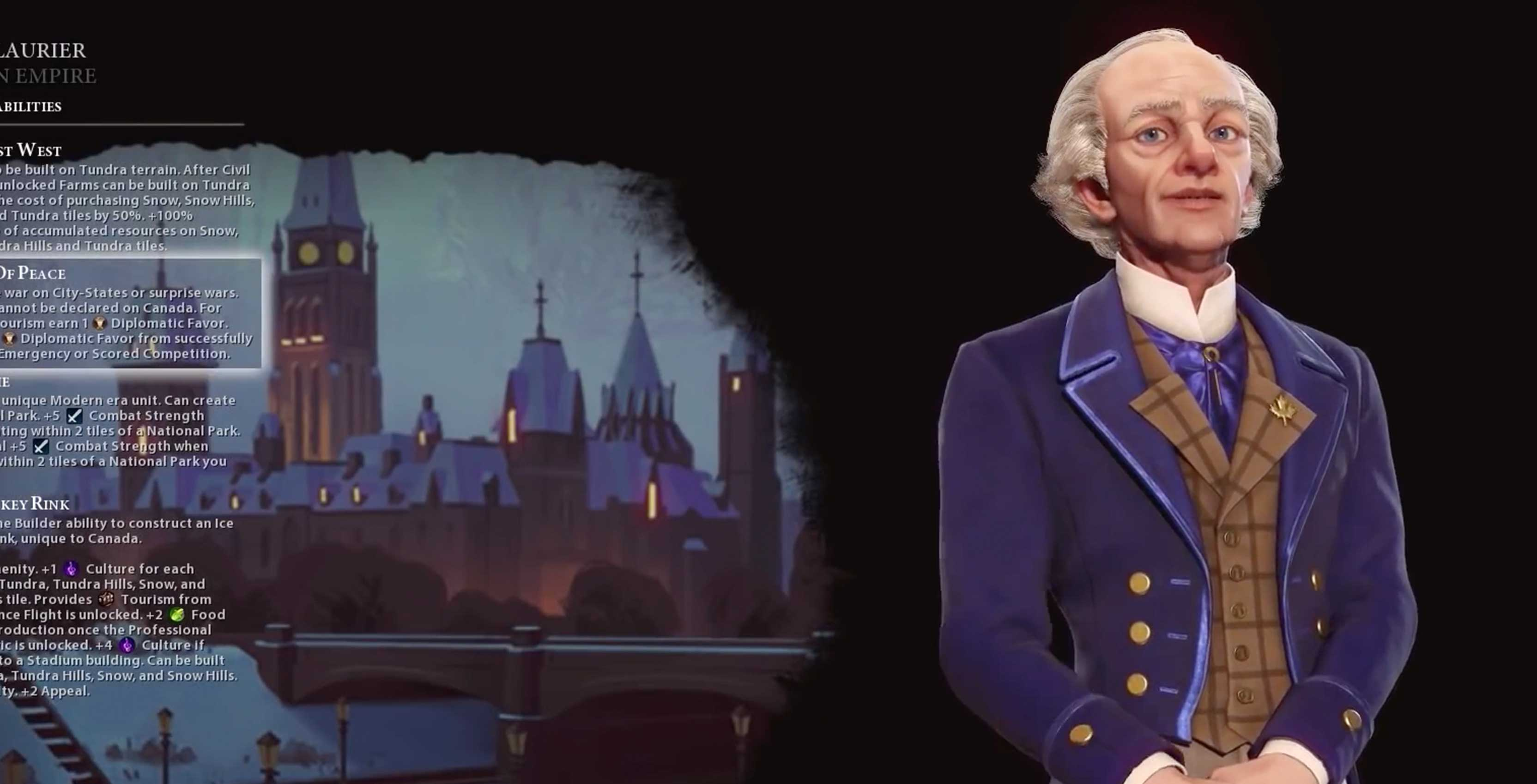 Canada comes to hit strategy game Sid Meier's Civilization VI