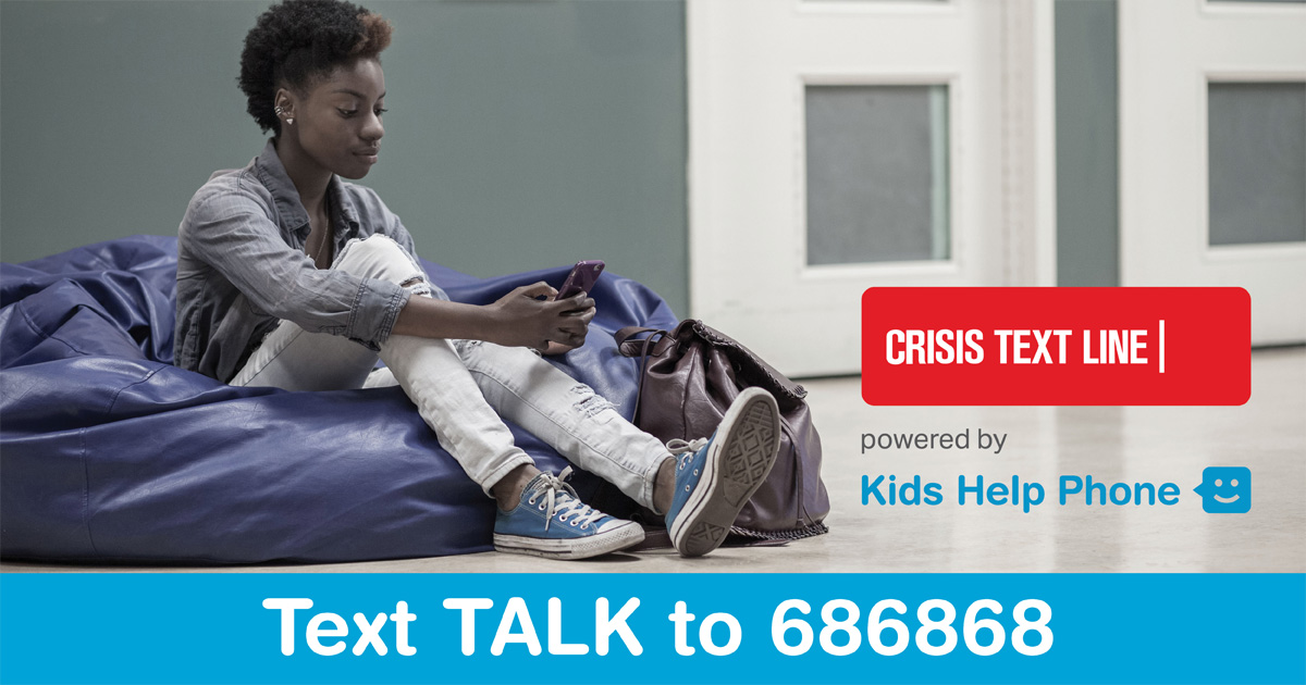 Crisis Text Line Kids Help Phone