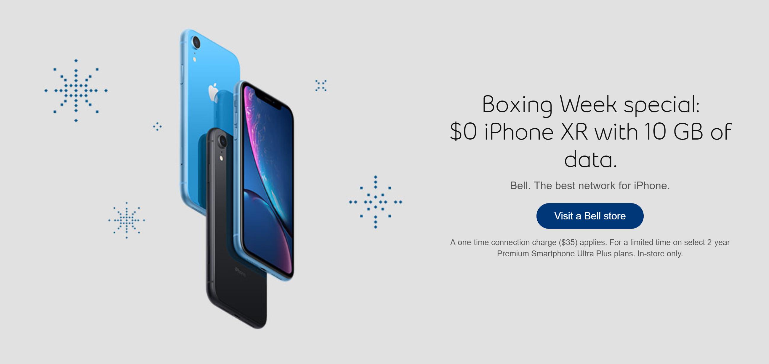 iPhone XR deal Bell