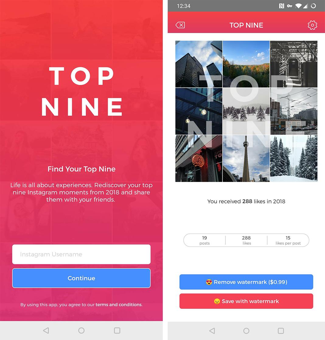 Top Nine app