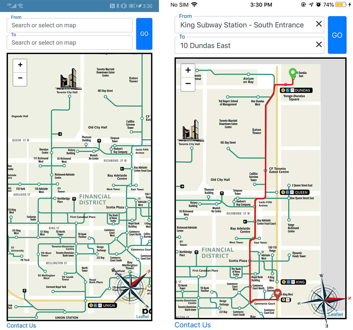 Toronto Subway Map App.Just In Time For Winter Third Party Toronto Path Map Now Has A