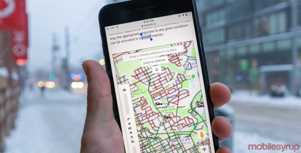 Canadian cities use live snow plow trackers to keep residents informed