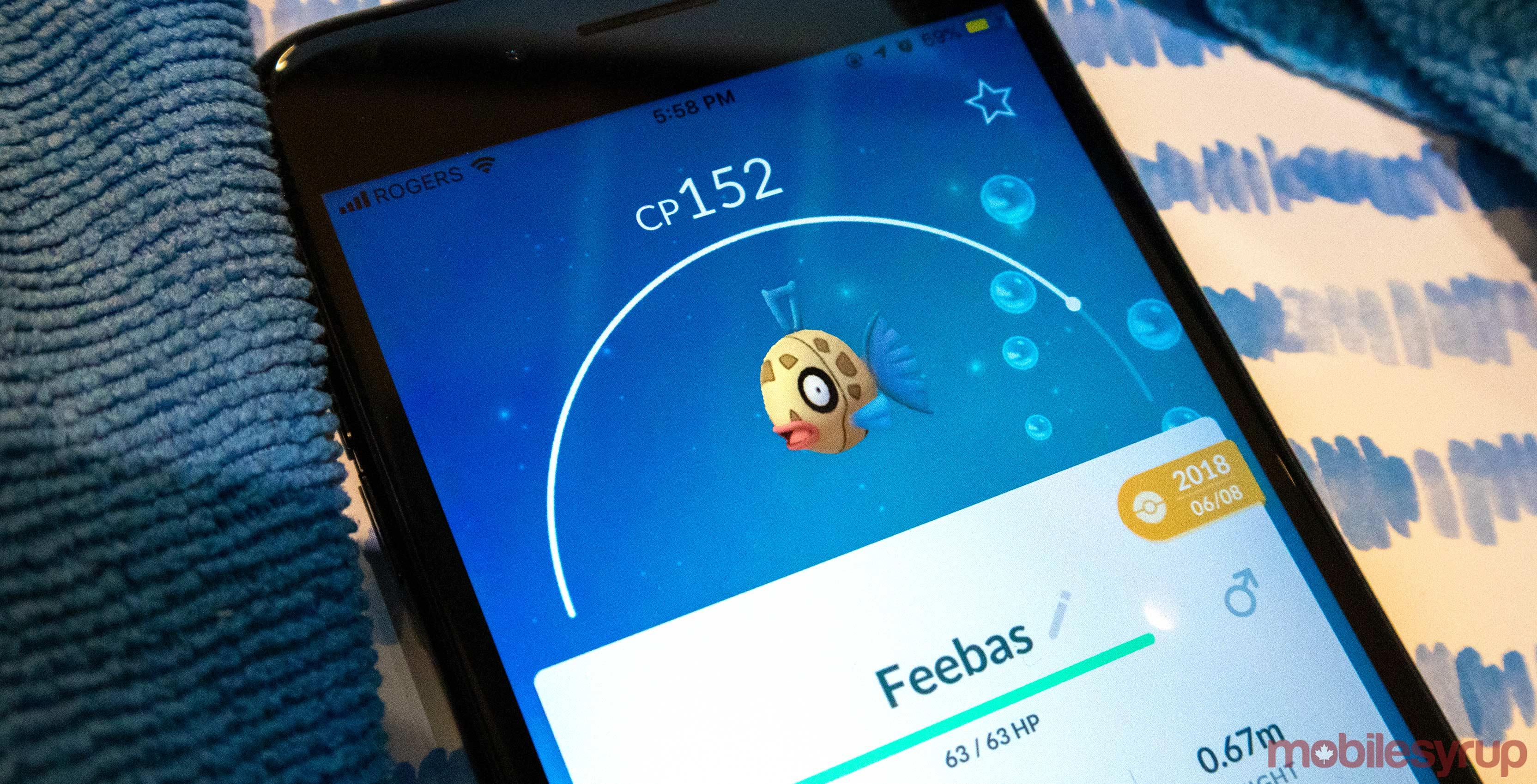 Pokémon Go Feebas