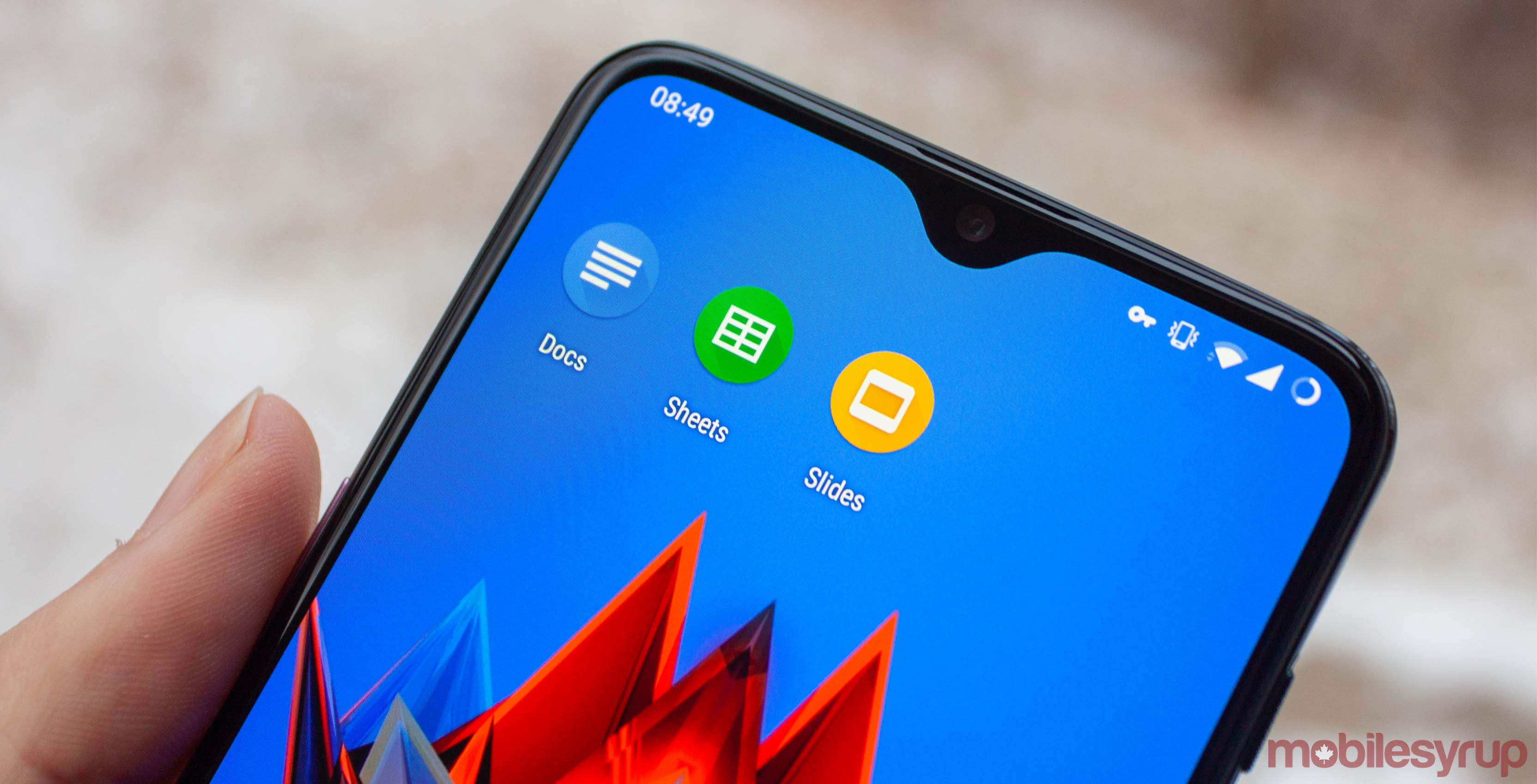 Google Docs, Sheets and Slides on OnePlus 6T