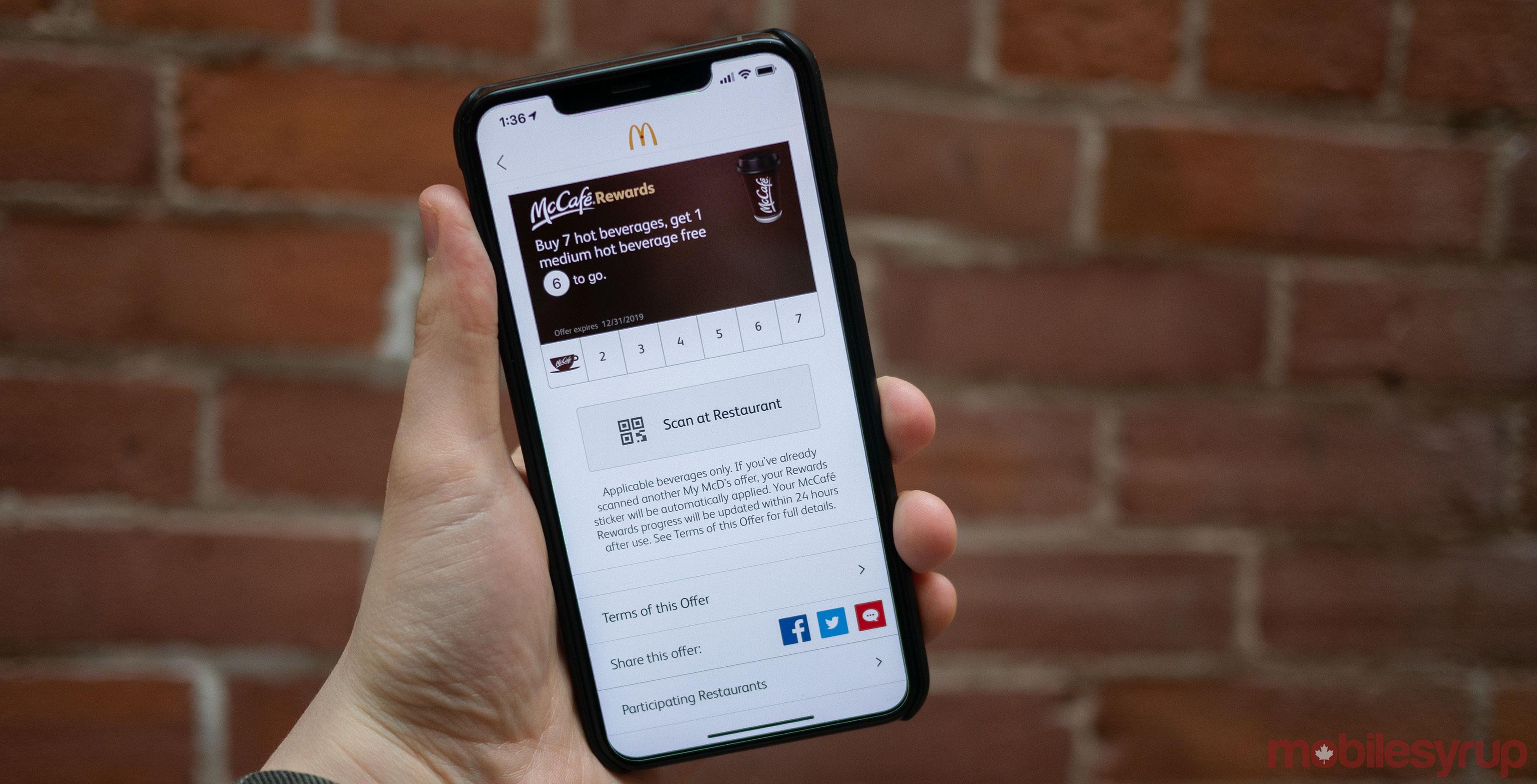 mcdonalds iOS app