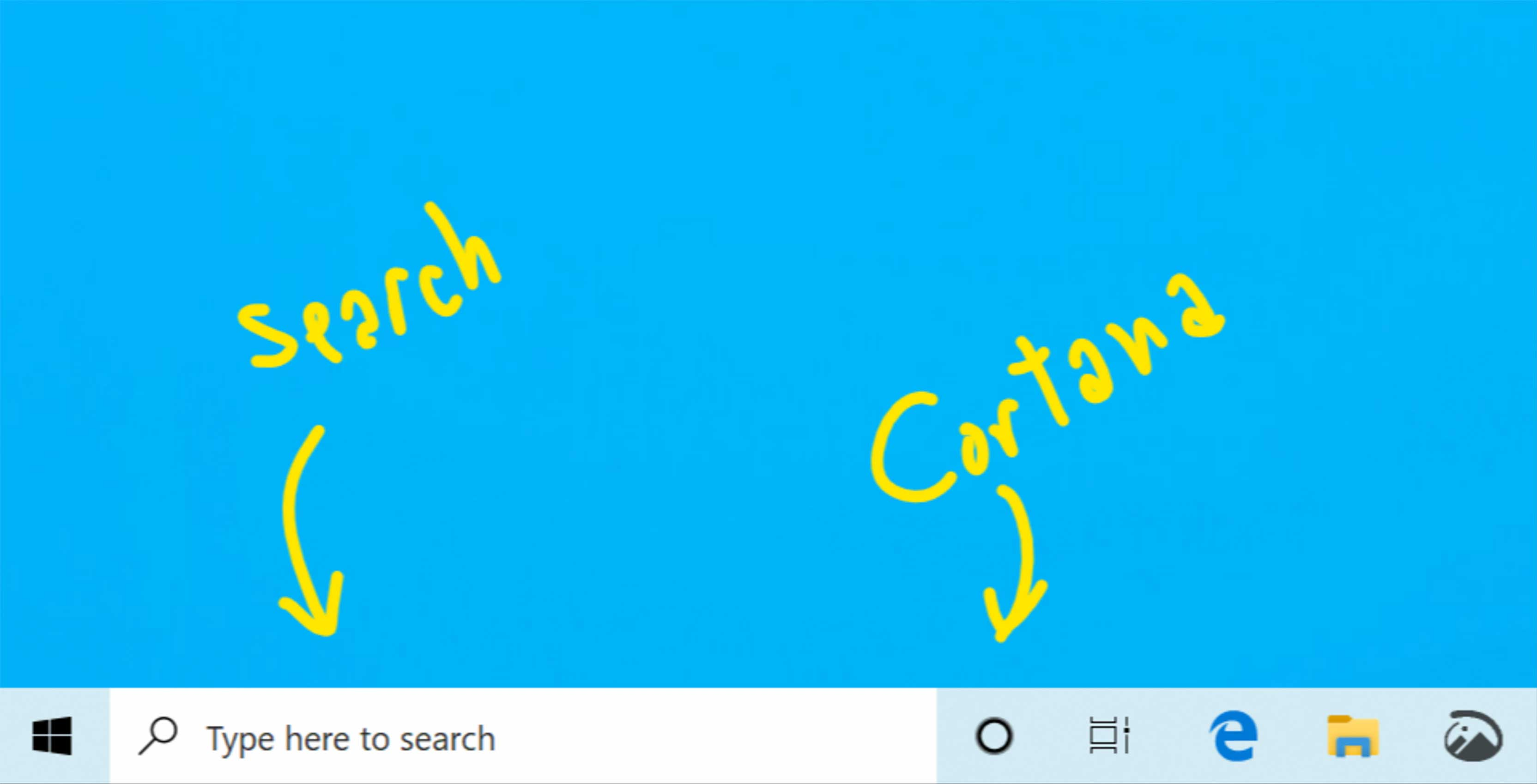 Microsoft Cortana search