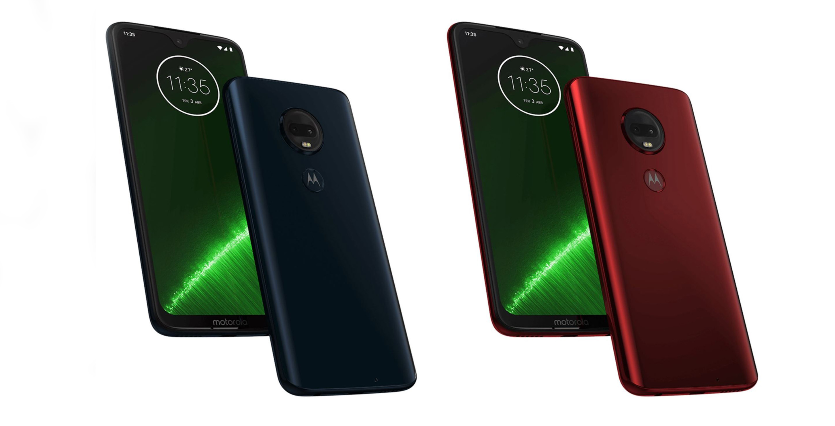 Press renders for the entire Moto G7 smartphone series have leaked