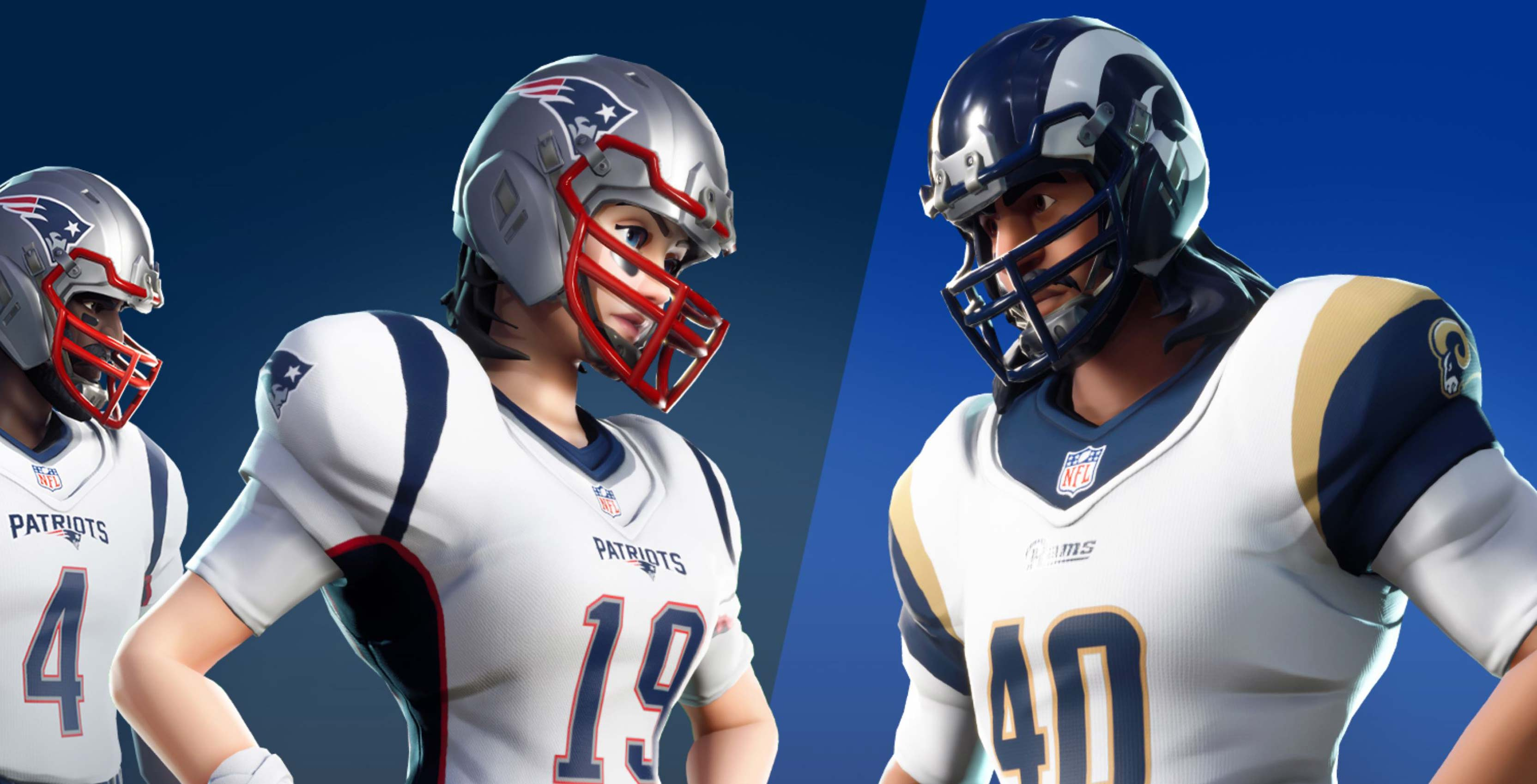 9281ca4ee8a Popular battle royale game Fortnite is getting new cosmetic skins in  celebration of the National Football League's Super Bowl LIII.