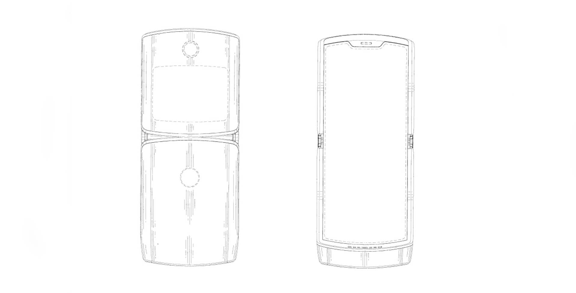 This patent might be our first look at Motorola's rumoured RAZR foldable phone