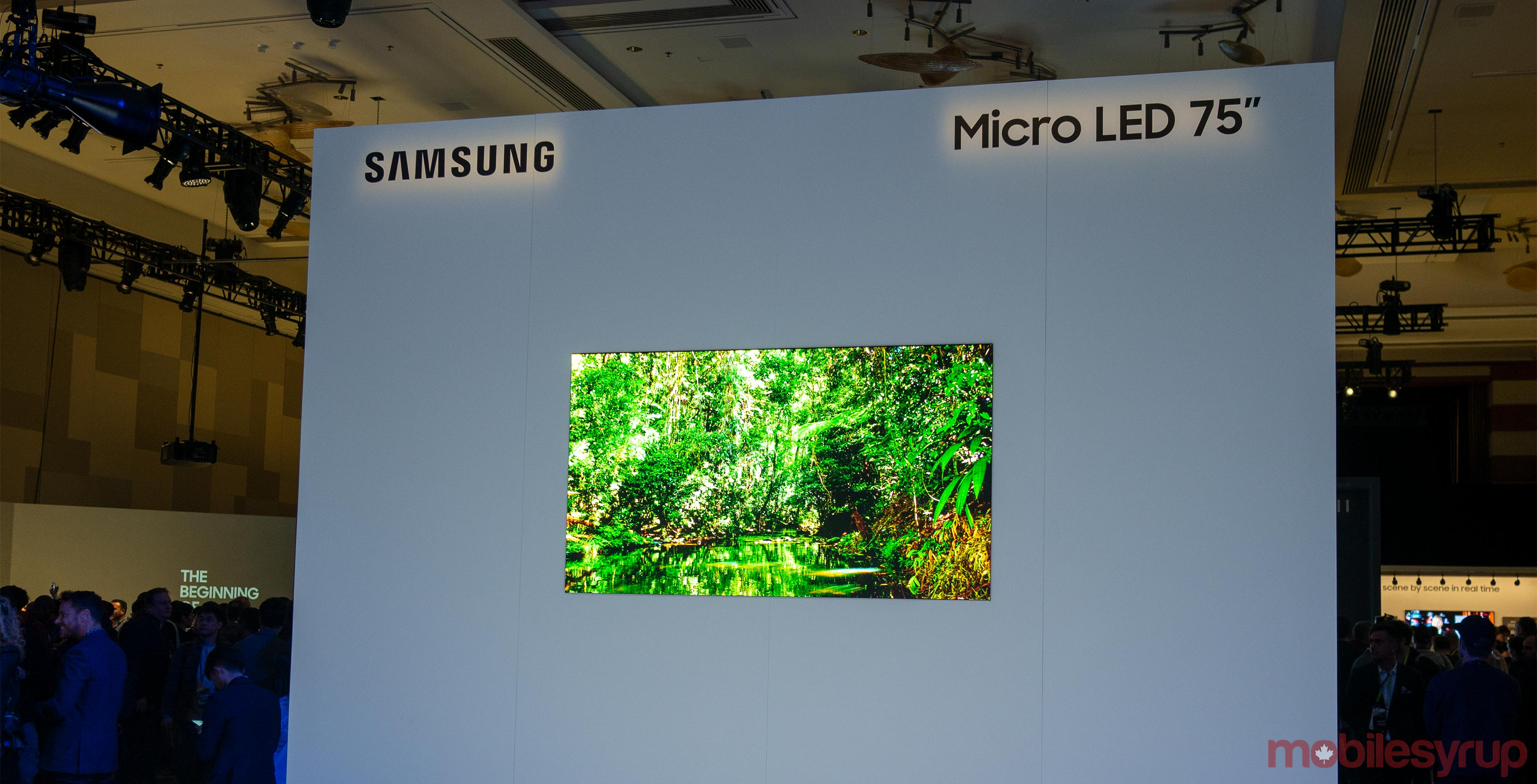 Samsung's 75-inch MicroLED 4K TV is the first exciting television