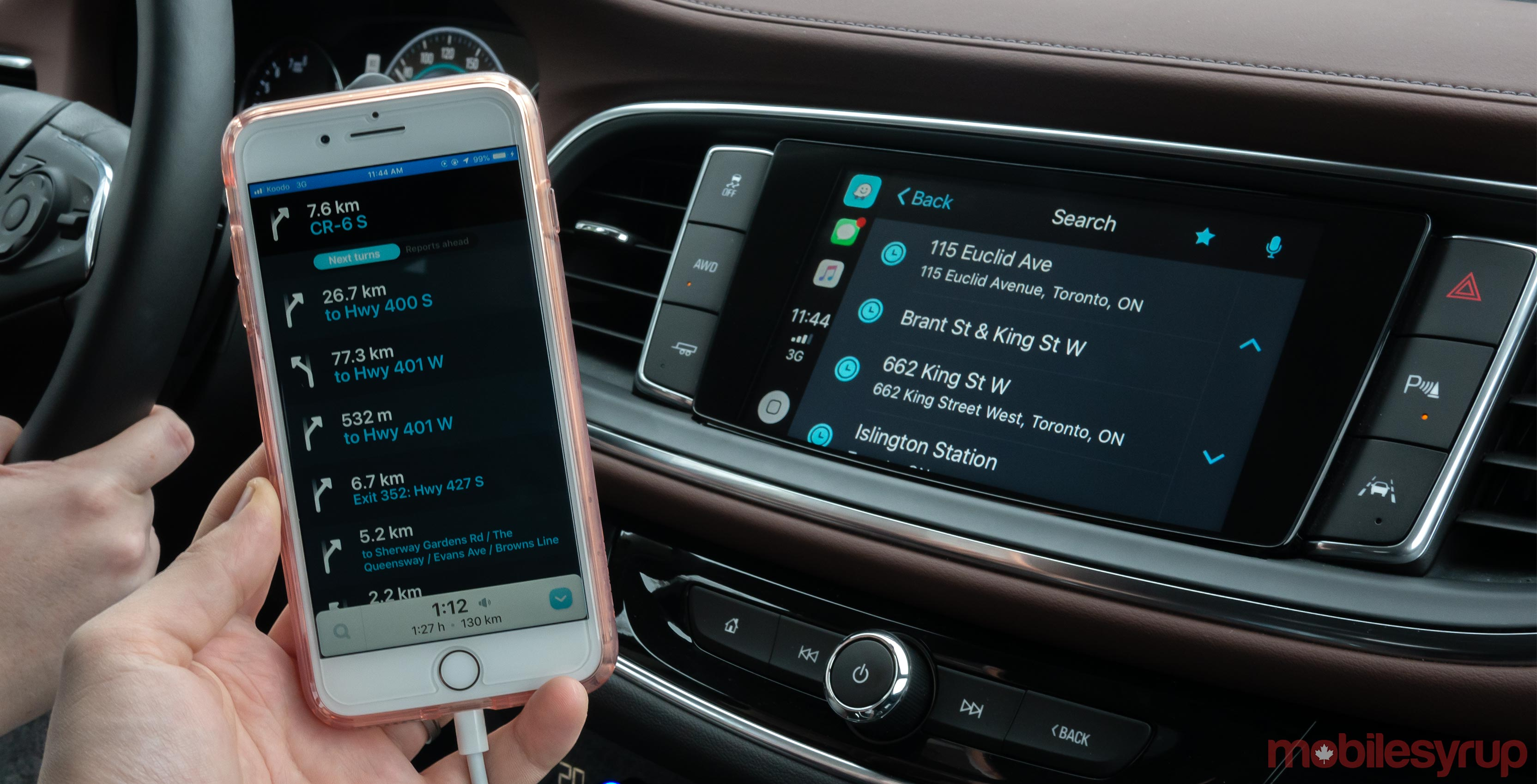 Waze running on Car Play
