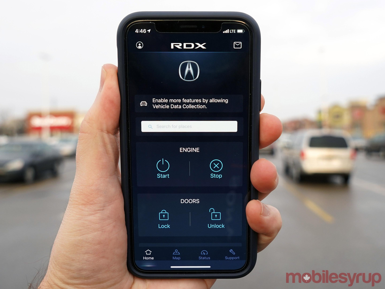 Acura RDX AcuraLink app
