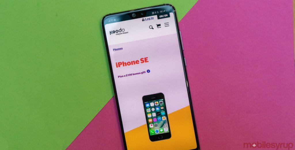 Koodo offers new iPhone SEs with $100 bonus gift on Tab ...