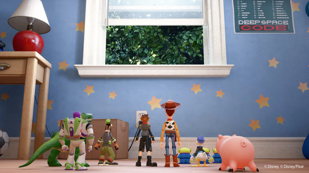 Kingdom Hearts 3 Toy Story Andy's room