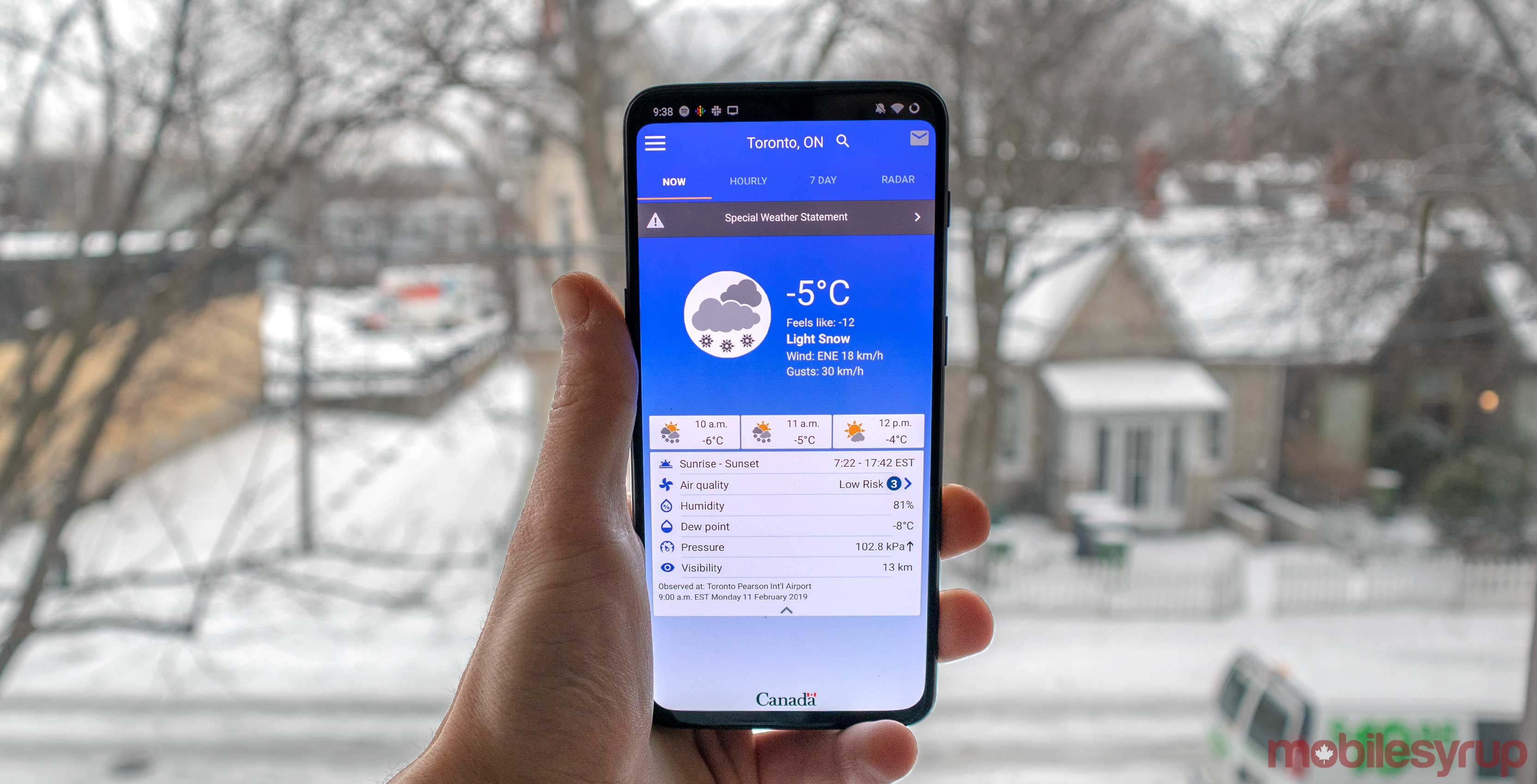 Environment Canada's official weather app leaves beta