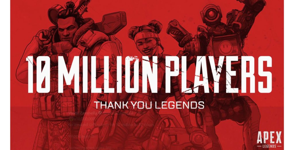 Apex Legends hits 10 million players in 72 hours - MobileSyrup thumbnail
