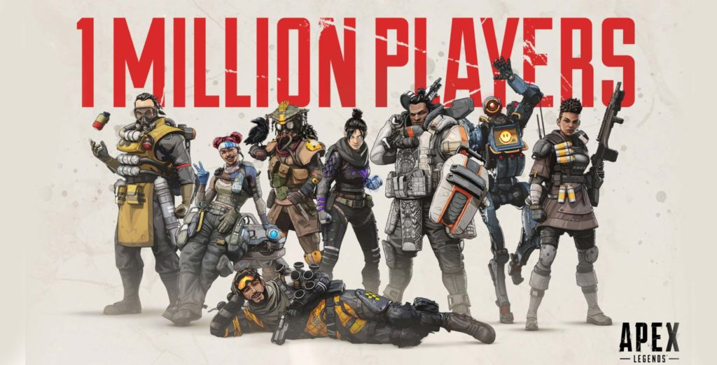 Apex Legends accumulated 1 million players in less than eight hours - MobileSyrup thumbnail