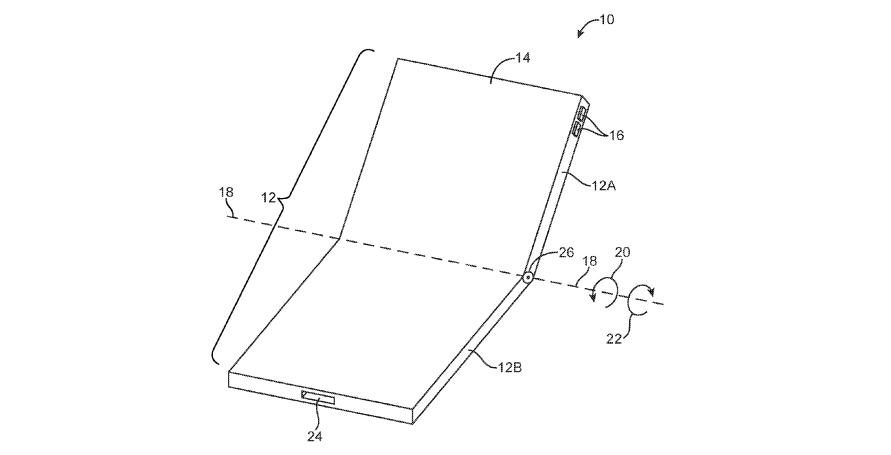 Apple foldable phone patent
