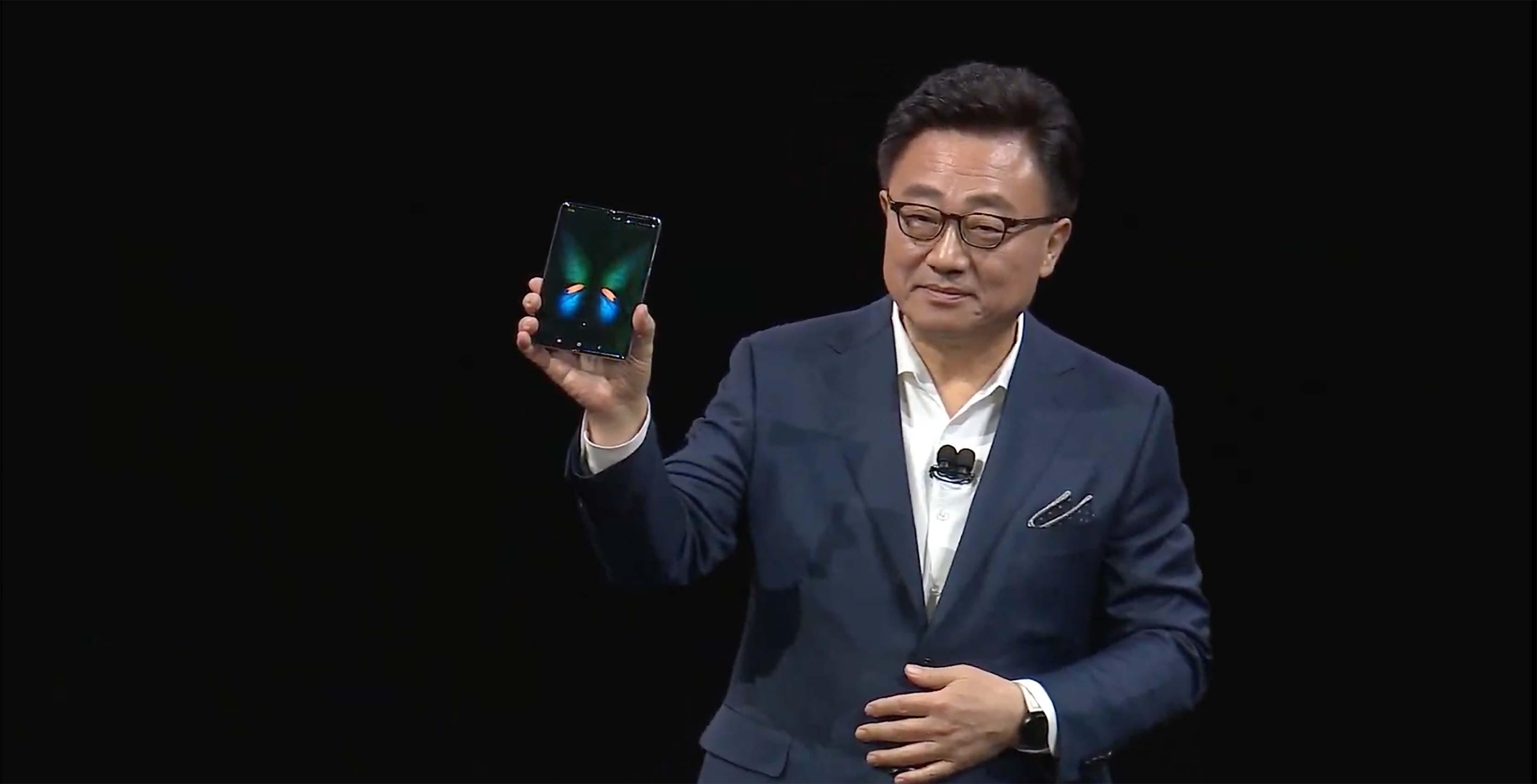 DJ Koh holding Samsung Galaxy Fold