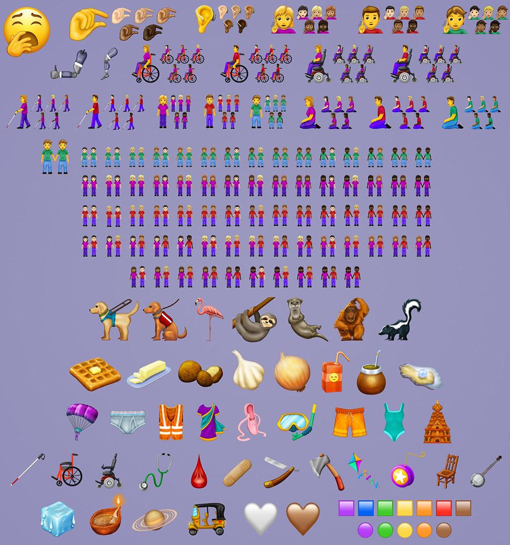 Final emoji list 2019