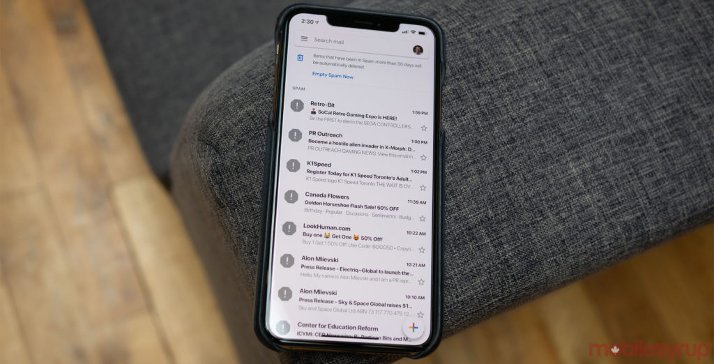 Gmail's iOS redesign now rolling out to iOS users in Canada