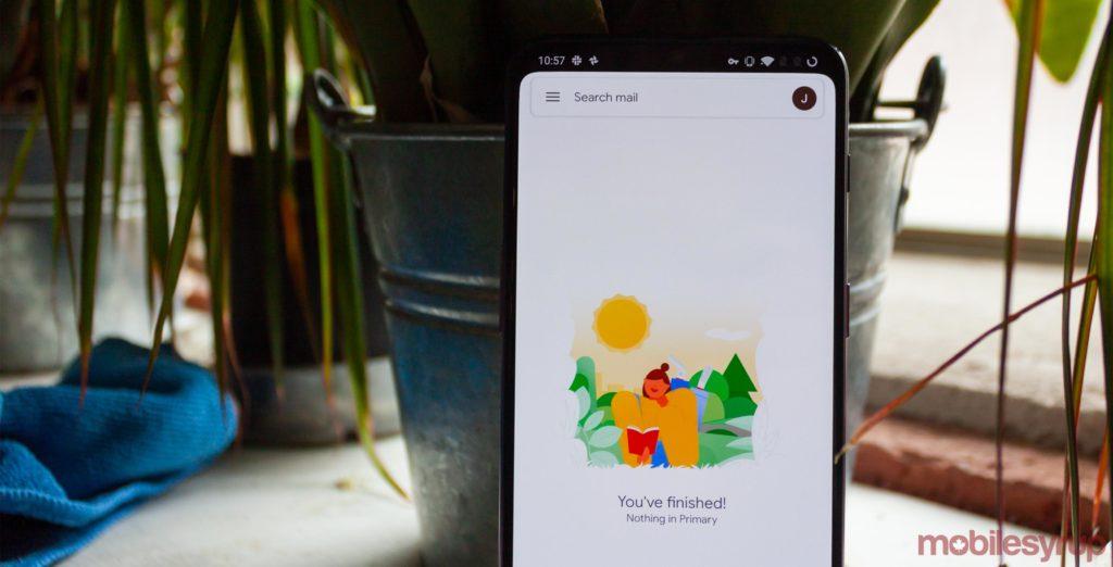 QnA VBage Google's Gmail widget gets a new Material Design refresh