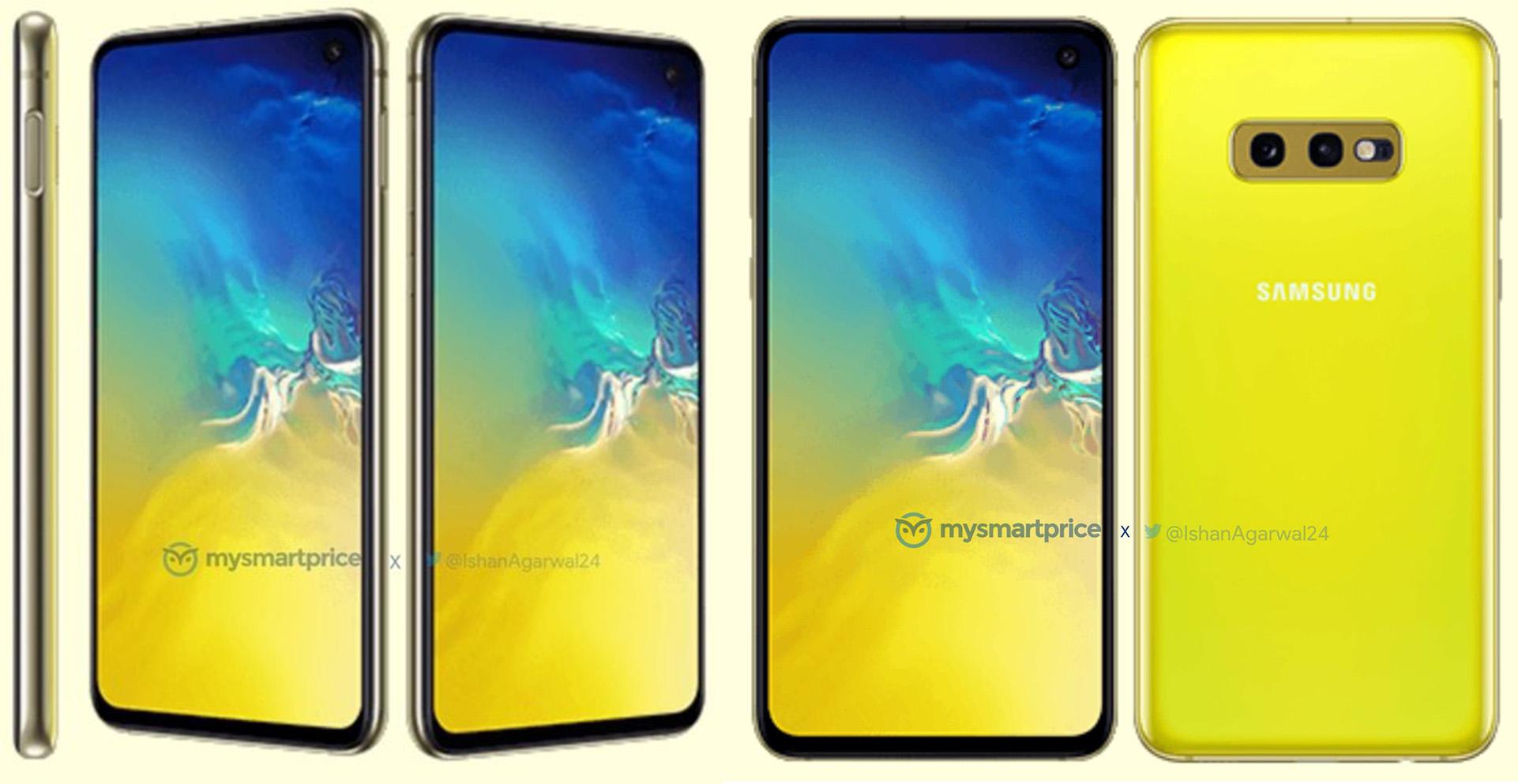Samsung Galaxy S10e press render