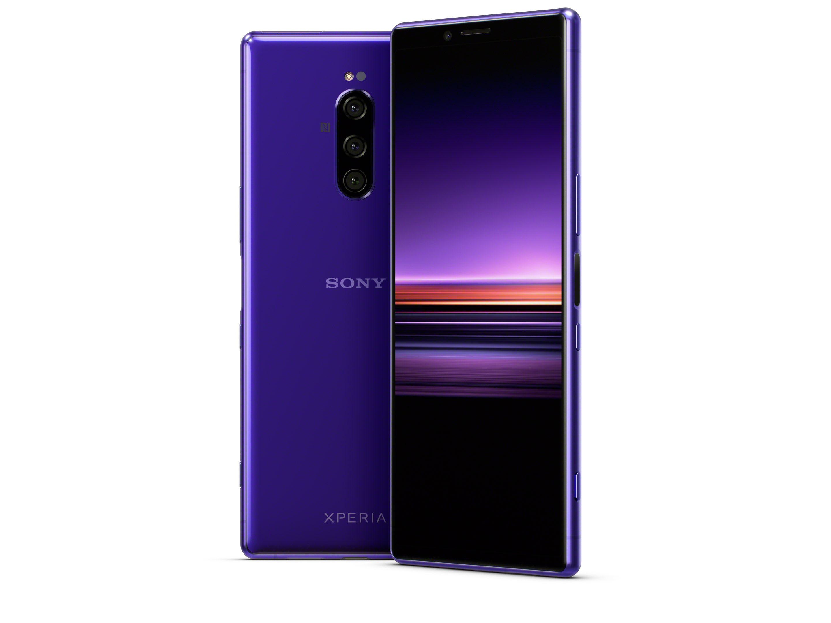 The Xperia 1 in purple