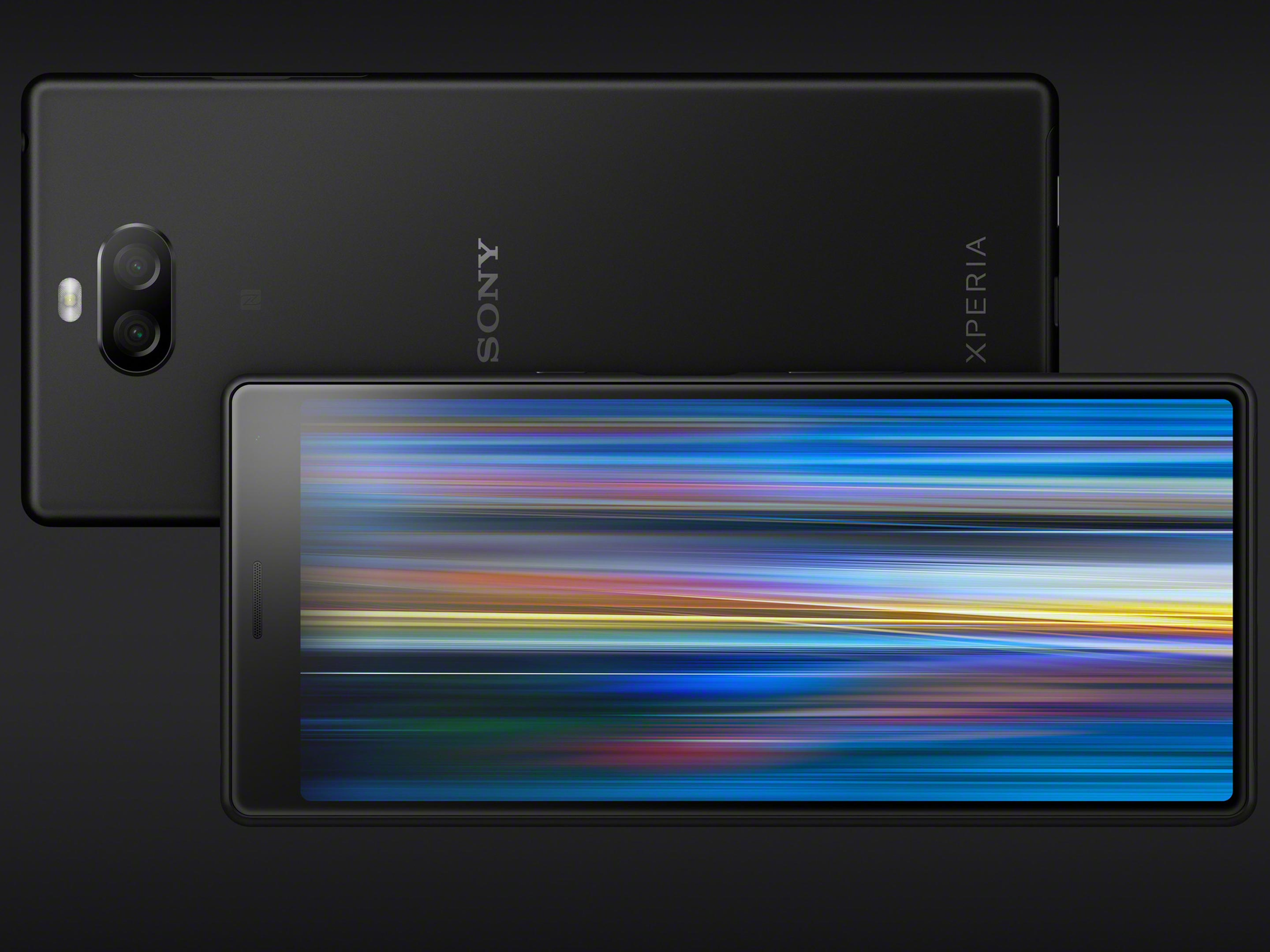 The Xperia 10 in black
