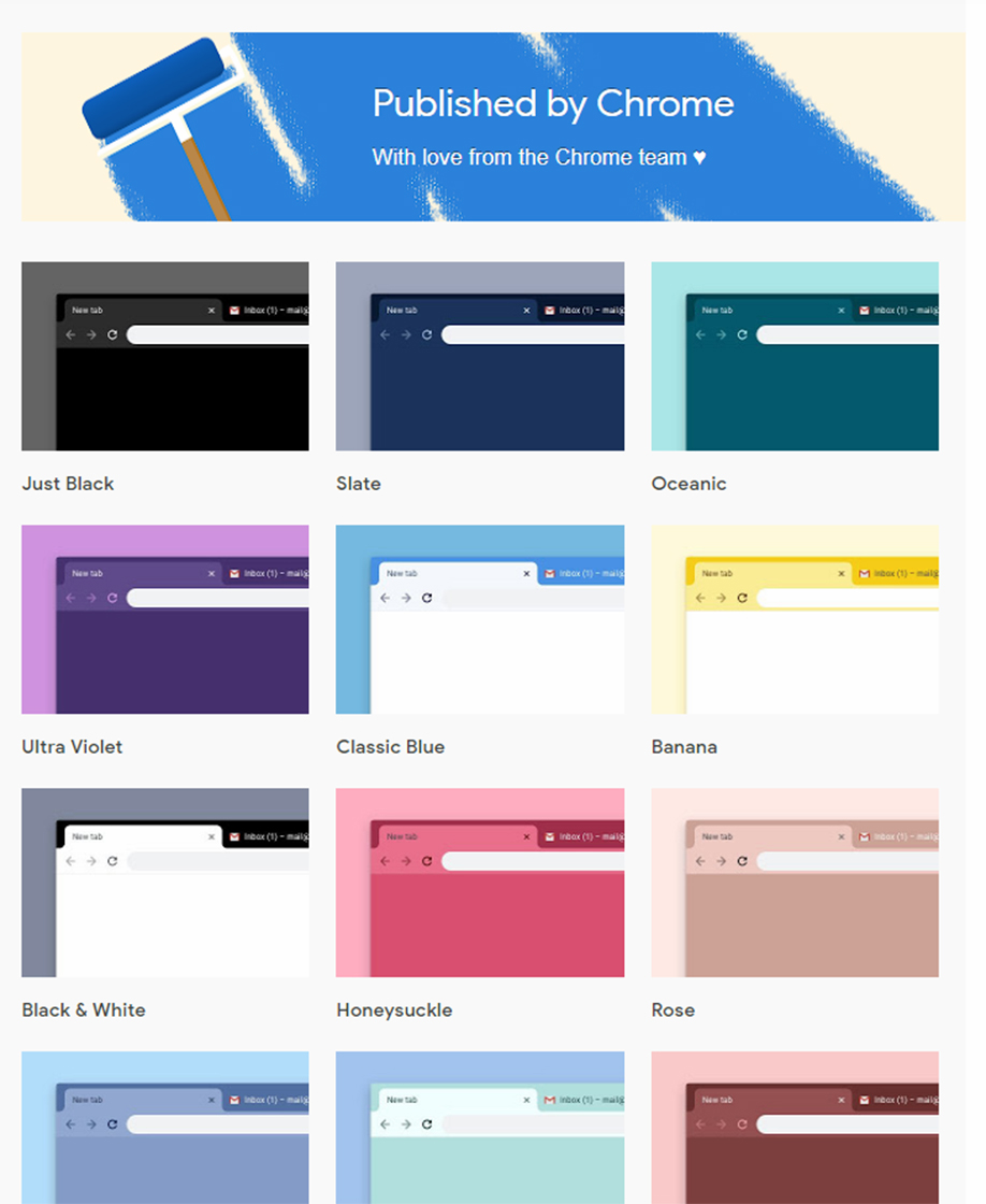 Themes by Chrome