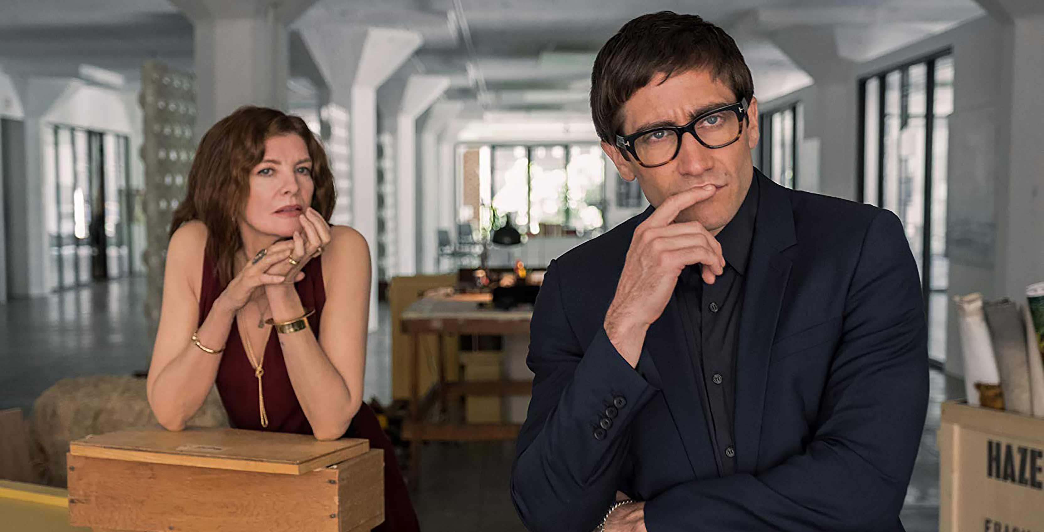 Jake Gyllenhaal and Rene Russo in Velvet Buzzsaw