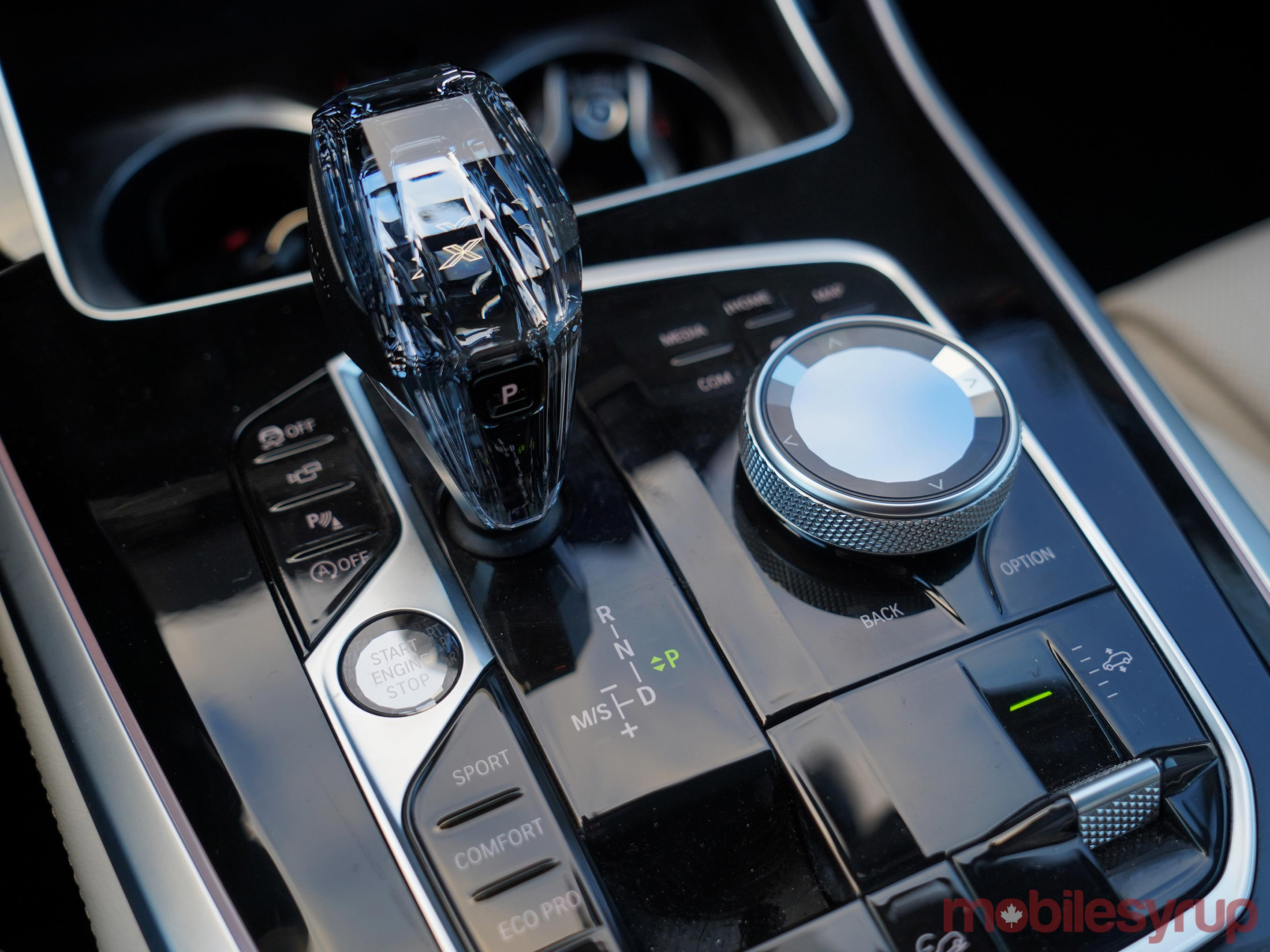 BMW X5 centre controls