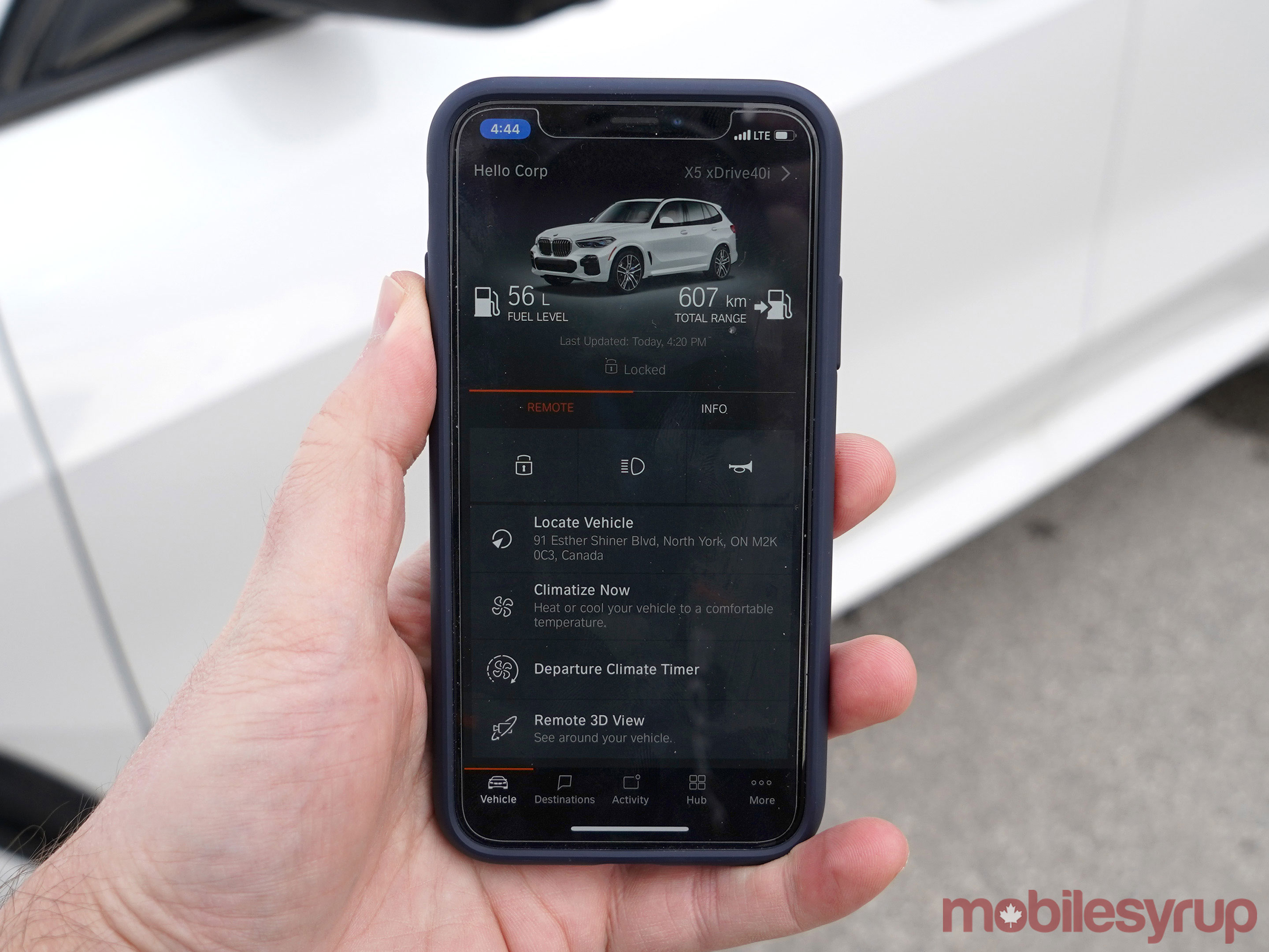 BMW iDrive Connected app