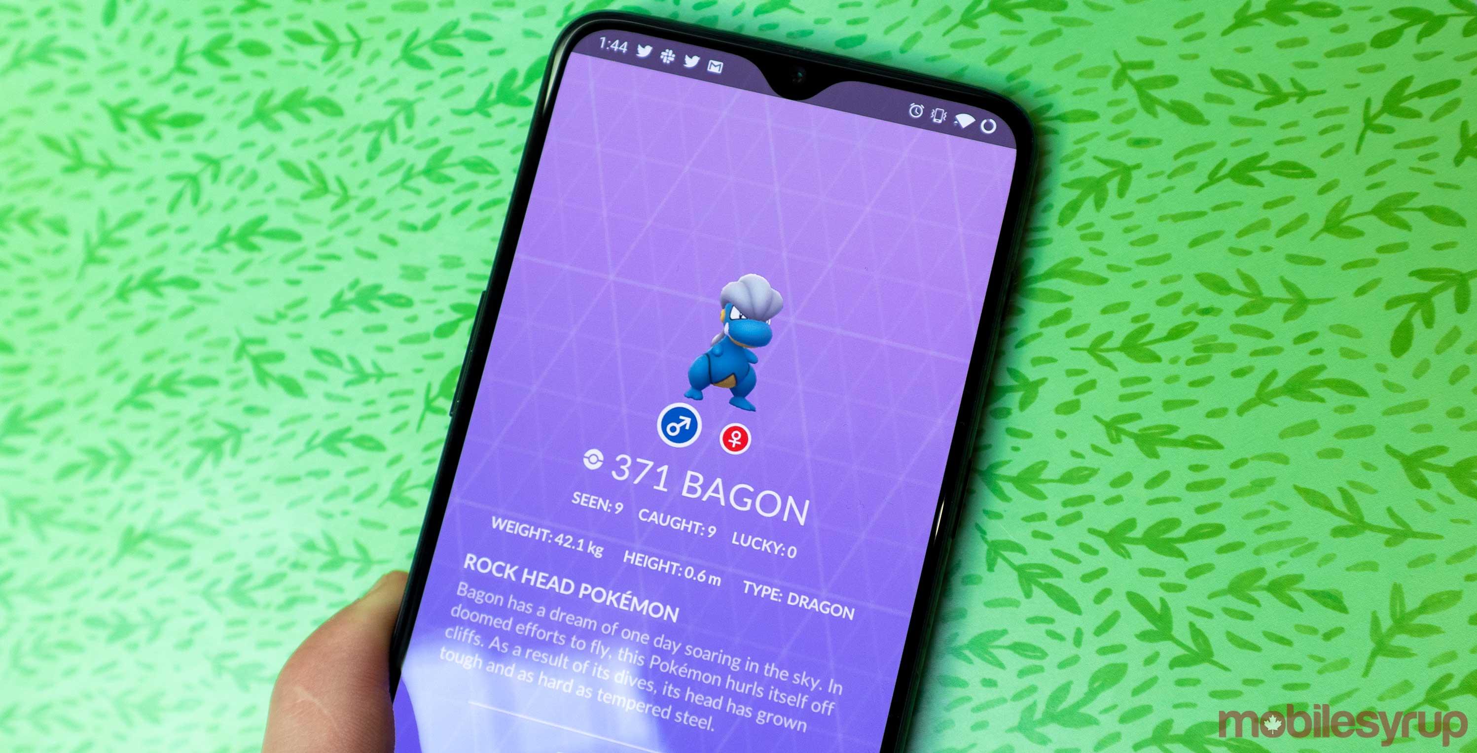April's Pokémon Go Community Day features Bagon