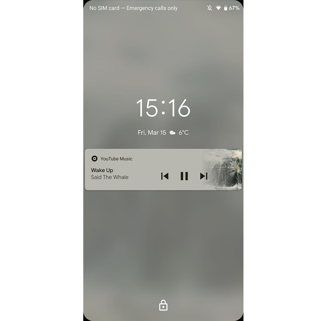 Android Q lock screen music