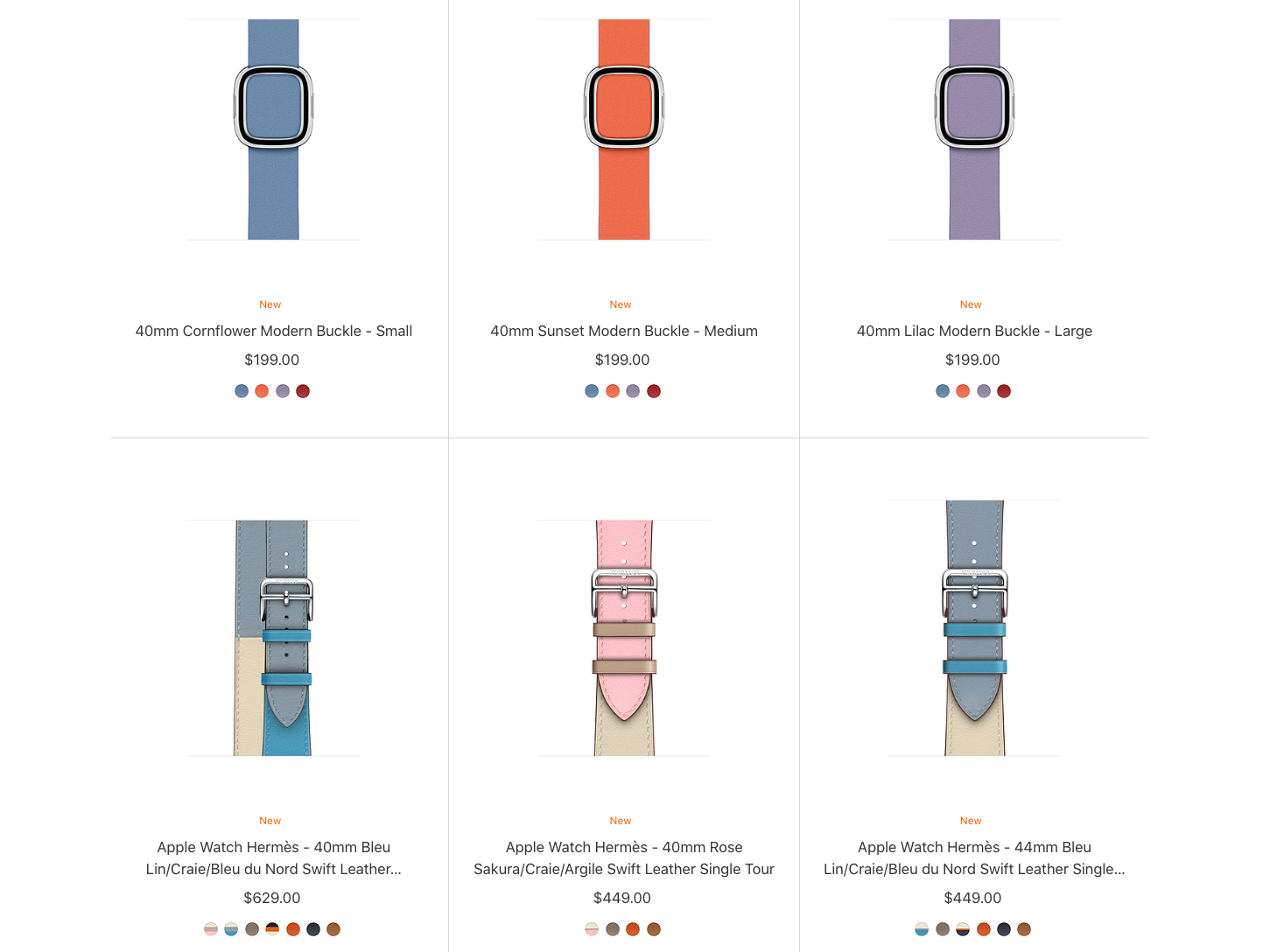 Apple Watch Spring band collection