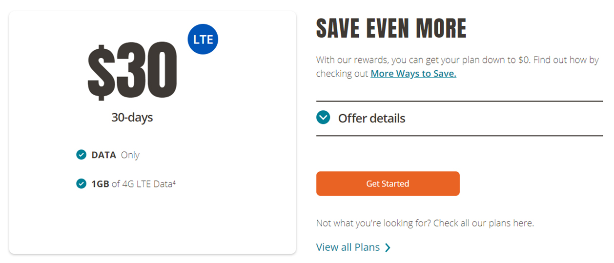 Public Mobile low-cost data-only plan