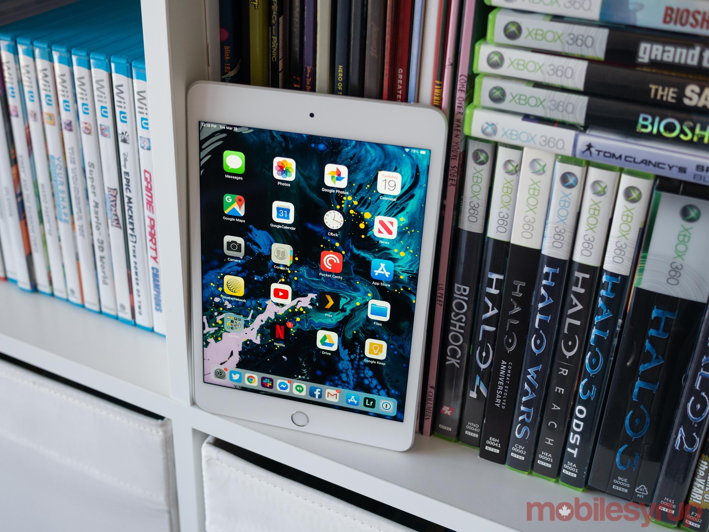 iPad Mini 2019 on a shelf