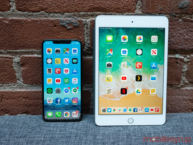 iPad Mini vs iPhone XS Max