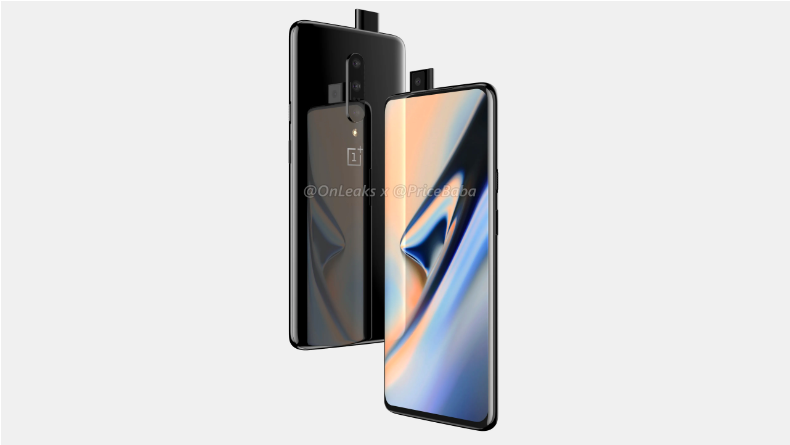 OnePlus 7 renders emerge: Pop-out camera, not a slider