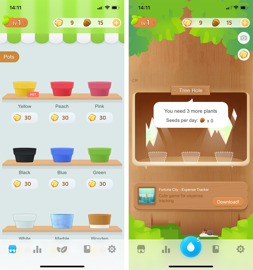 Grow into a habit of drinking more water with Plant Nanny2