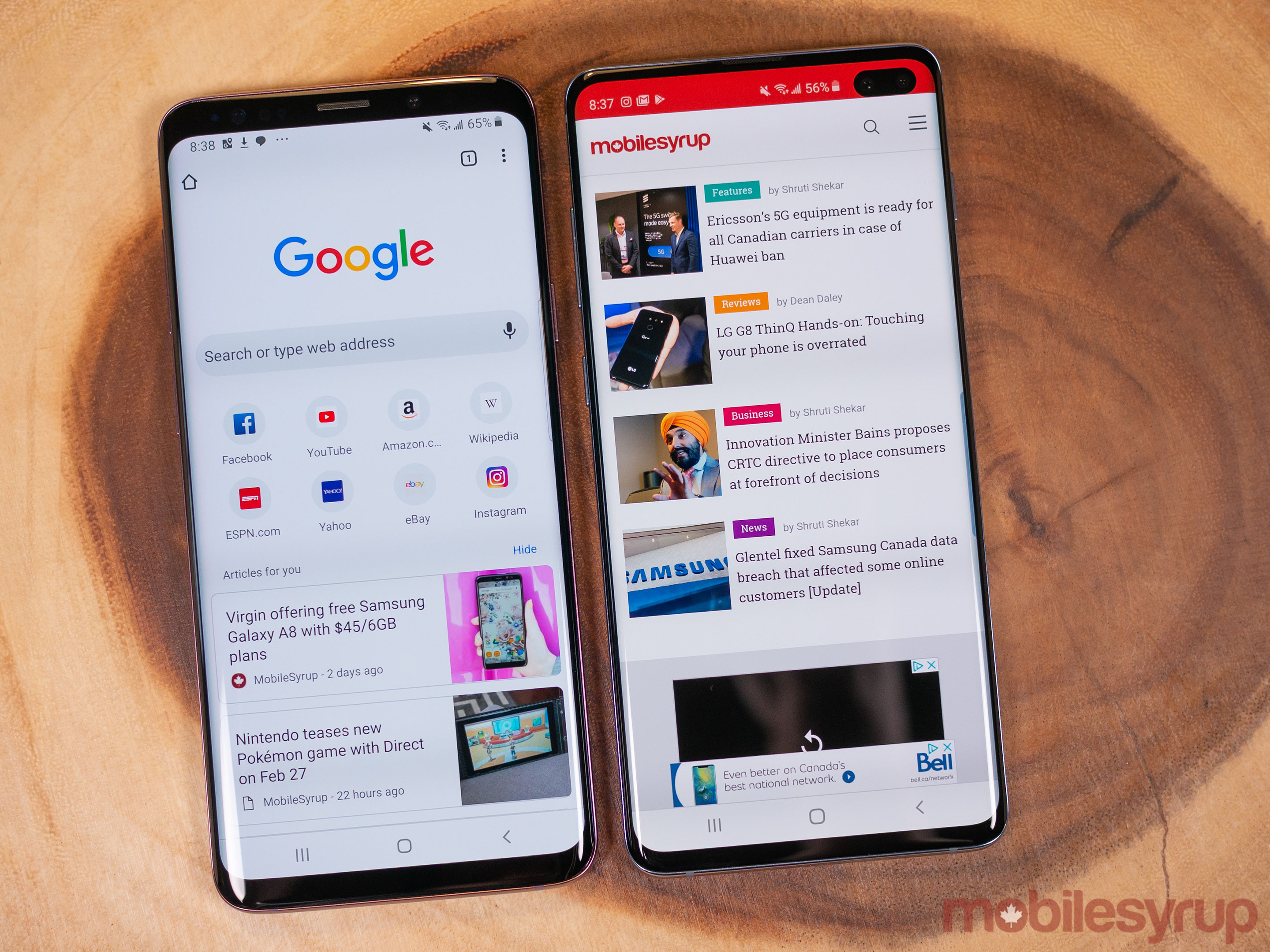 Samsung Galaxy S10 vs. S9