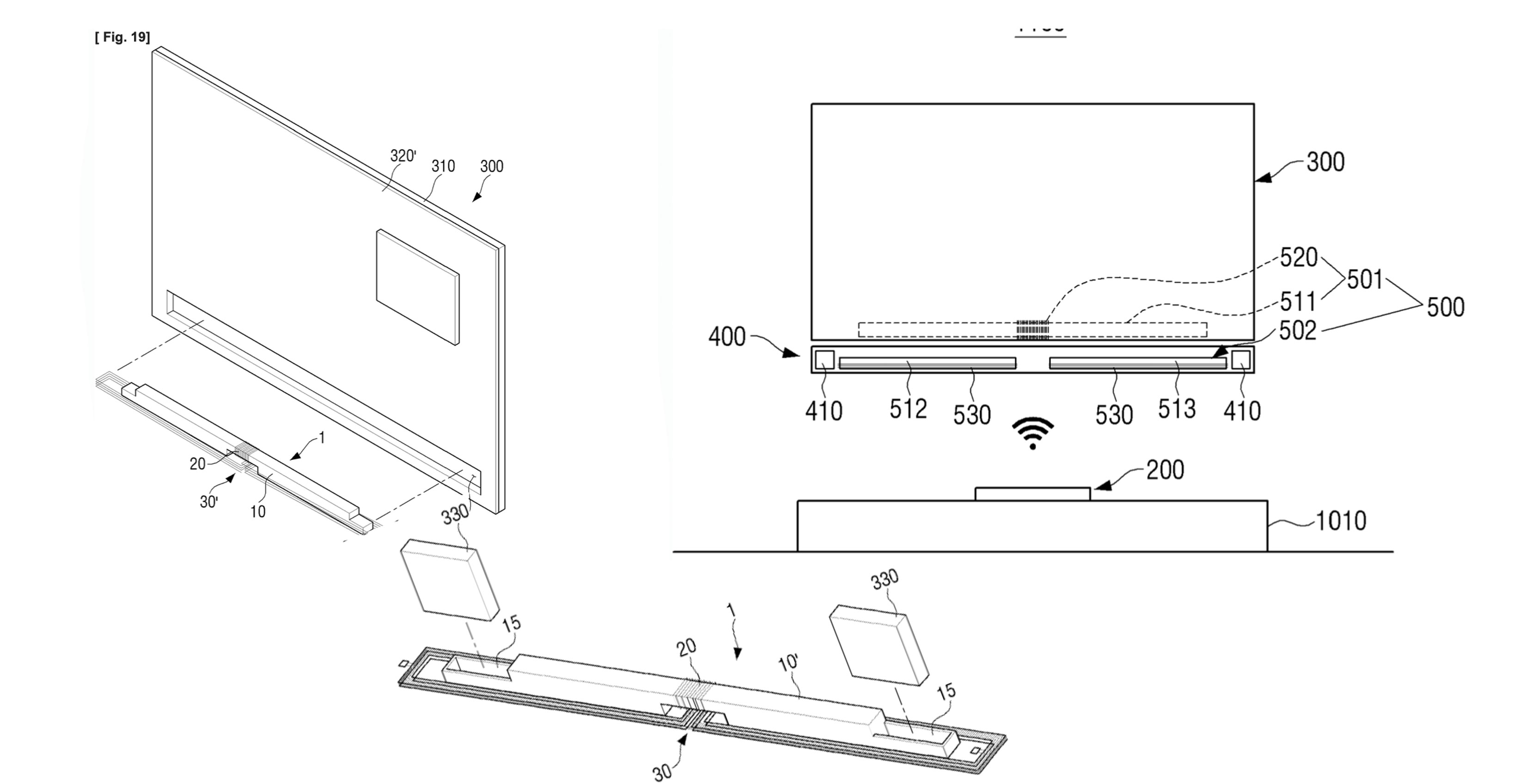 Samsung patents wireless TV with no power cable