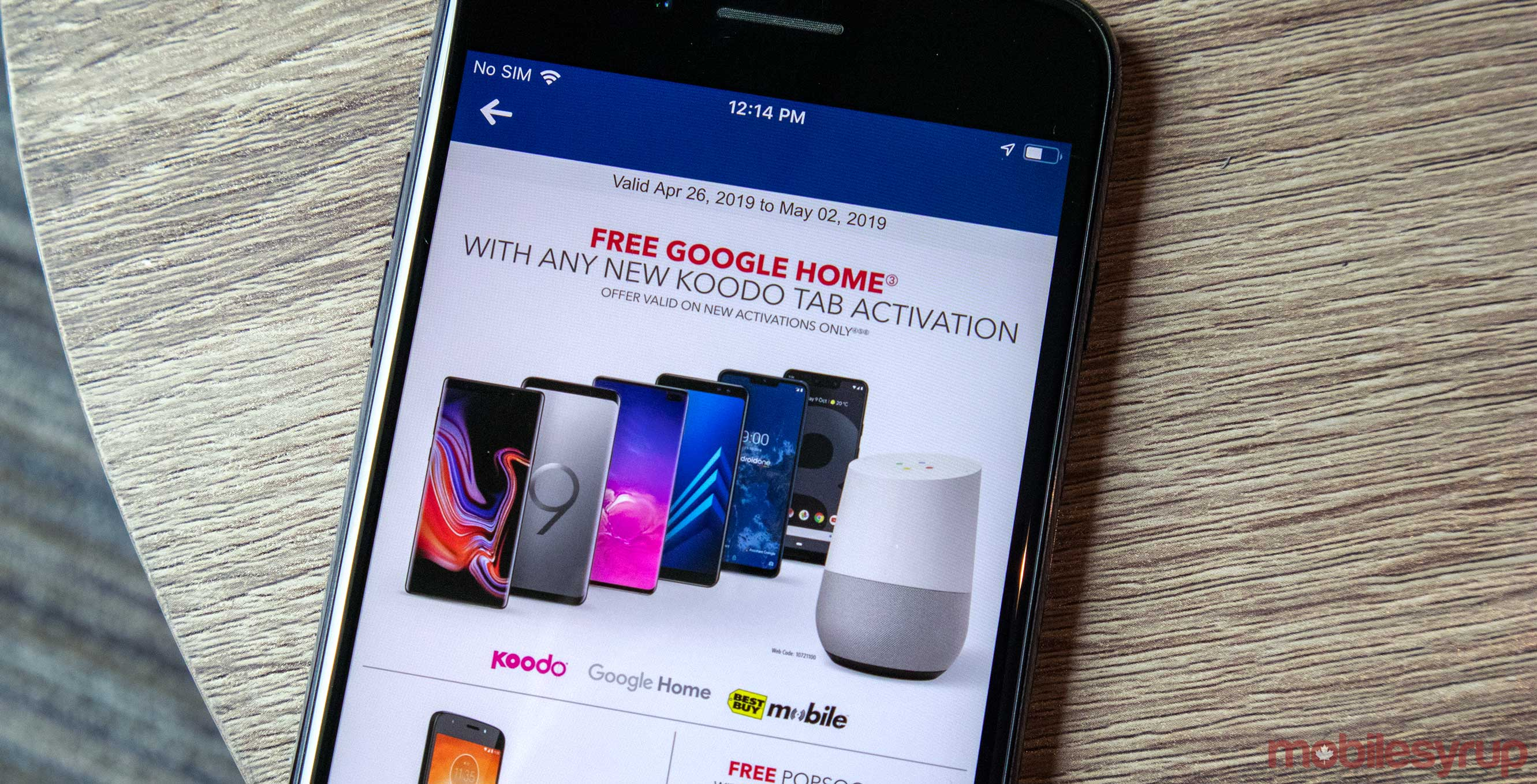 Get a free Google Home with Koodo activations at Best Buy Mobile