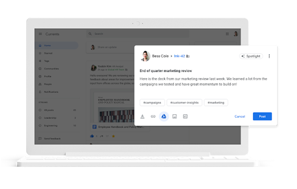 Google+ lives on as Google Currents for G Suite users