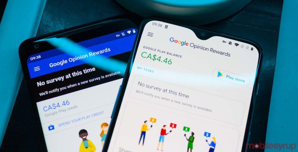 Google refreshes Opinion Rewards app with new Material Design